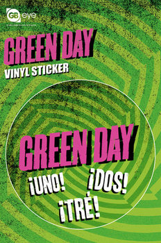 GREEN DAY - logo Наклейка