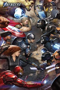 Плакат Avengers Gamerverse - Face Off
