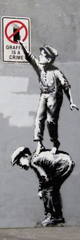 Плакат Banksy - Grafitti Is A Crime