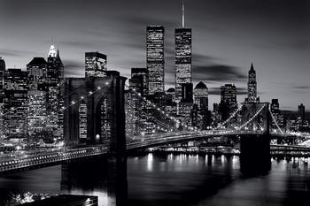 Плакат Brooklyn bridge (B&W)