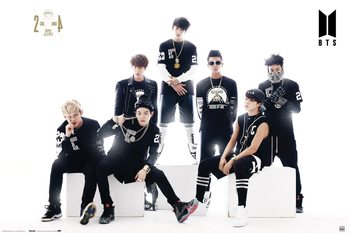 Плакат BTS - Black And White