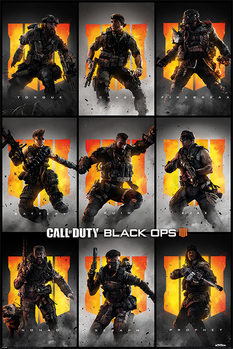 Плакат Call Of Duty – Black Ops 4 - Characters