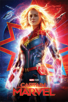 Плакат Captain Marvel - Higher, Further, Faster