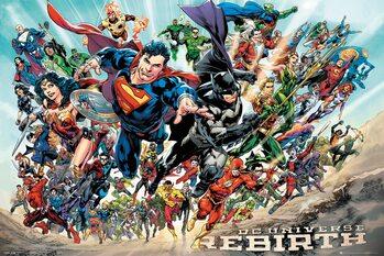 Плакат DC Universe - Rebirth