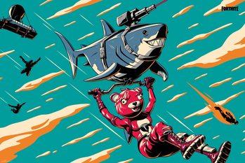 Плакат Fortnite - Laser Shark