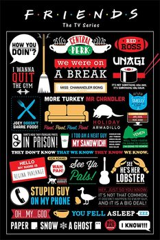 Плакат FRIENDS - infographic