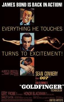 Плакат JAMES BOND 007 – goldfinfer-excitement