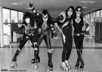 Плакат Kiss- London Airport, May 1975
