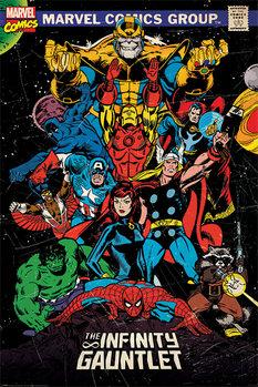 Плакат Marvel Retro - The Infinity Gauntlet