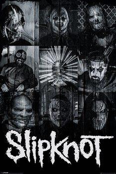 Плакат Slipknot - Masks