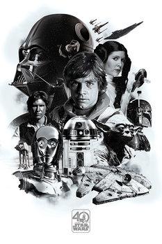 Плакат Star Wars - Montage (40th Anniversary )