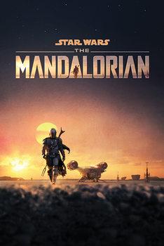 Плакат Star Wars: The Mandalorian - Dusk