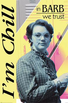 Плакат Stranger Things - In Barb We Trust