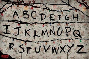Плакат Stranger Things - R, U, N