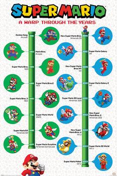 Плакат Super Mario - A Warp Through The Years