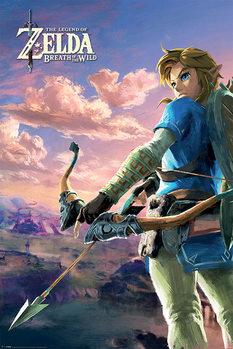 Плакат Zelda Breath of the Wild - Hyrule Scene Landscape