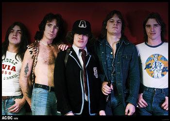 AC/DC - 70s Group Плакат