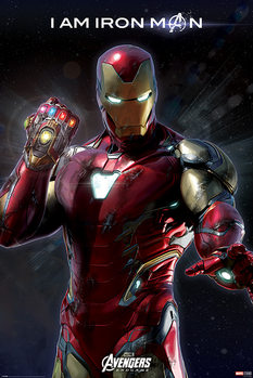 Avengers Endgame - I Am Iron Man Плакат