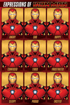 Avengers - Expressions Of Iron Man Плакат