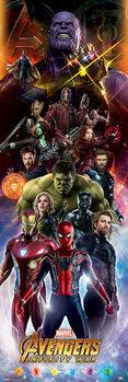 Avengers Infinity War - Characters Плакат