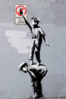 Banksy - Grafitti Is A Crime Плакат