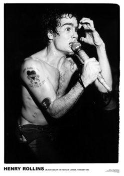 Black Flag - Henry Rollins '81 Плакат
