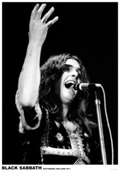 Black Sabbath (Ozzy Osbourne) - Rotterdam, Holland 1971 Плакат