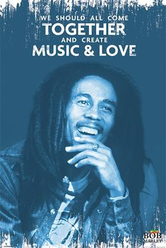 Bob Marley - Music and Love Плакат