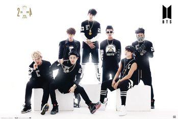 BTS - Black And White Плакат