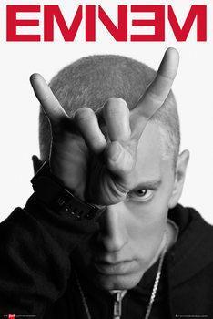 Eminem - horns Плакат
