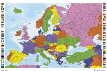 European map - new Плакат