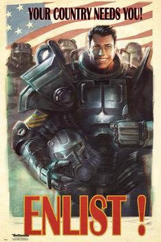 Fallout 4 - Enlist Плакат