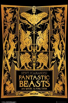 Fantastic Beasts And Where To Find Them - Book Cover Плакат