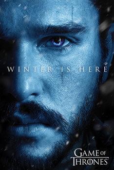 Game Of Thrones: Winter is Here - Jon Плакат
