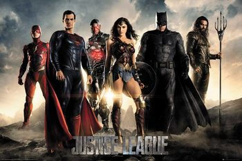 Justice League - Characters Плакат