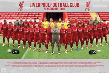 Liverpool FC - Team Photo 18-19 Плакат