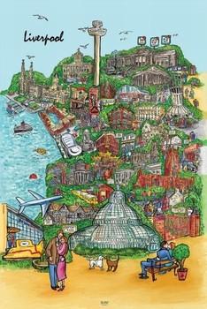 Liverpool - sketch Плакат