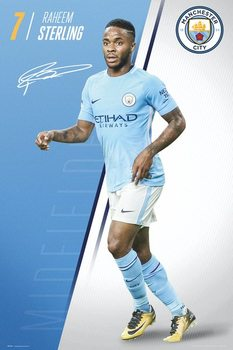 Manchester City FC - Sterling 17-18 Плакат