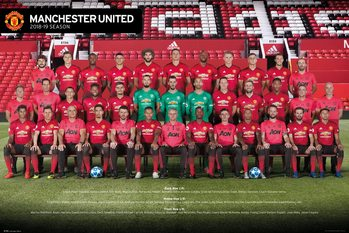 Manchester United - Players 18-19 Плакат