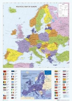 Map of Europe Плакат
