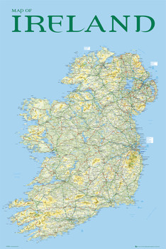 Map of Ireland Плакат