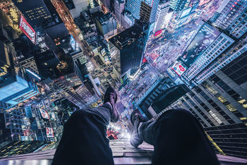 On The Edge Of Times Square Плакат