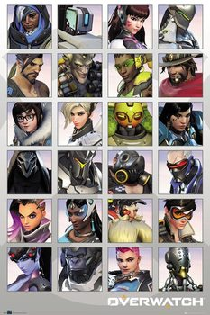 Overwatch - Character Portraits Плакат