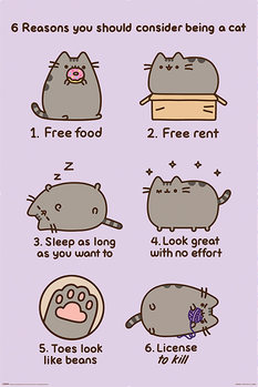 Pusheen - Reasons to be a Cat Плакат