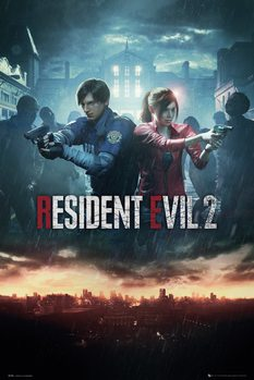Resident Evil 2 - City Key Art Плакат