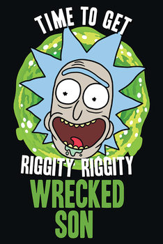 Rick and Morty - Wrecked Son Плакат