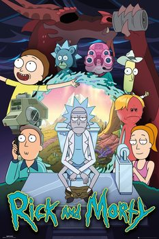 Rick & Morty - Season 4 Плакат