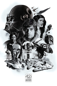 Star Wars - Montage (40th Anniversary ) Плакат