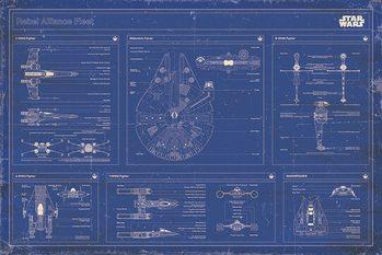 Star Wars - Rebel Alliance Fleet Blueprint Плакат