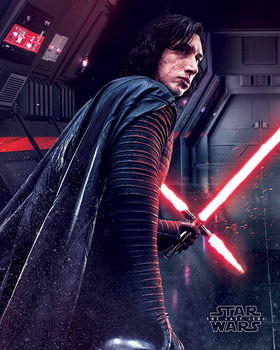 Star Wars The Last Jedi - Kylo Ren Rage Плакат